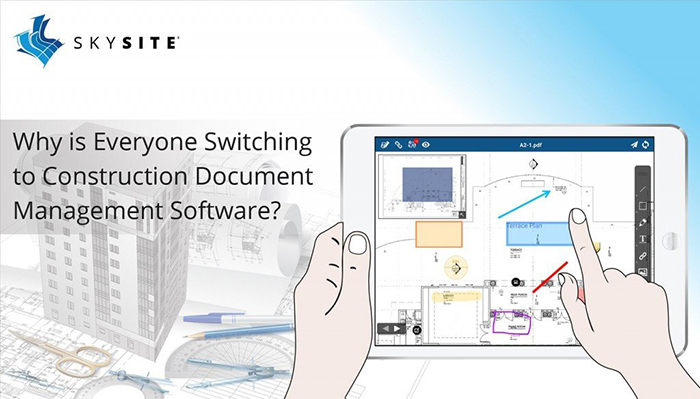 Working on SKYSITE's document management software in computer